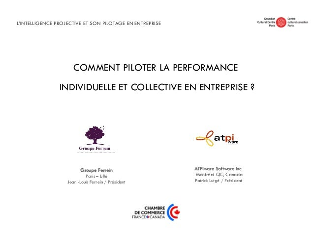 COMMENT PILOTER LA PERFORMANCEINDIVIDUELLE ET COLLECTIVE EN ENTREPRISE ?ATPIware Software Inc.Montréal QC, CanadaPatrick L...