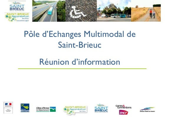 Pôle d'Echanges Multimodal de Saint-Brieuc Réunion d'information