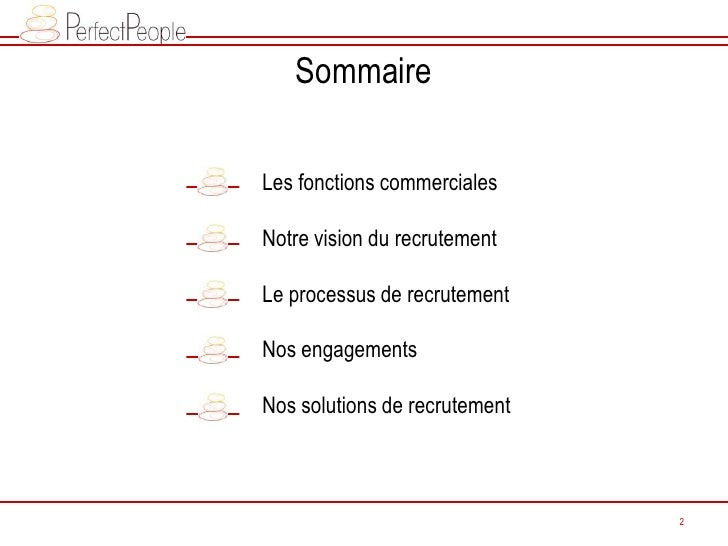 Perfect People - Extraits Conférence LNE: Conseils recrutement fonctions commerciales Slide 2