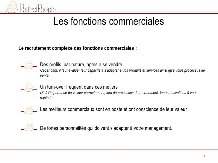 Perfect People - Extraits Conférence LNE: Conseils recrutement fonctions commerciales Slide 3