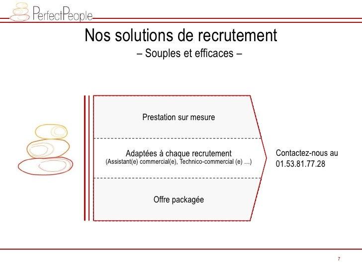 Nos solutions de recrutement               – Souples et efficaces –                     Prestation sur mesure             ...