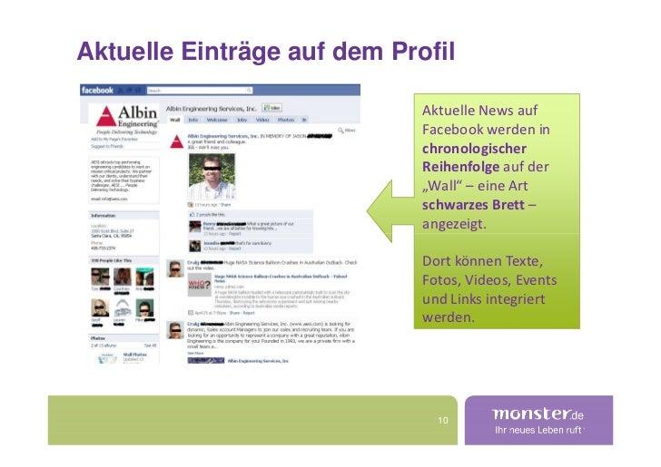 Aktuelle Einträge auf dem Profil                               Aktuelle News auf                              Facebook wer...
