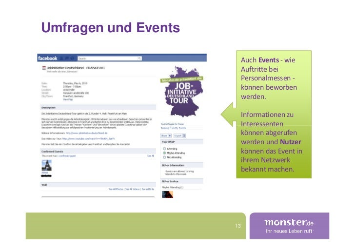 Umfragen und Events                             Auch Events - wie                            Auftritte bei                ...