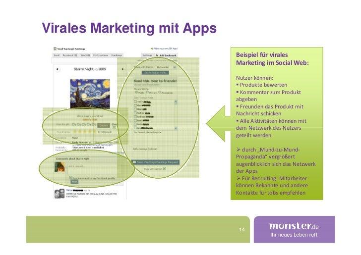 Virales Marketing mit Apps                              Beispiel für virales                              Marketing im Soc...