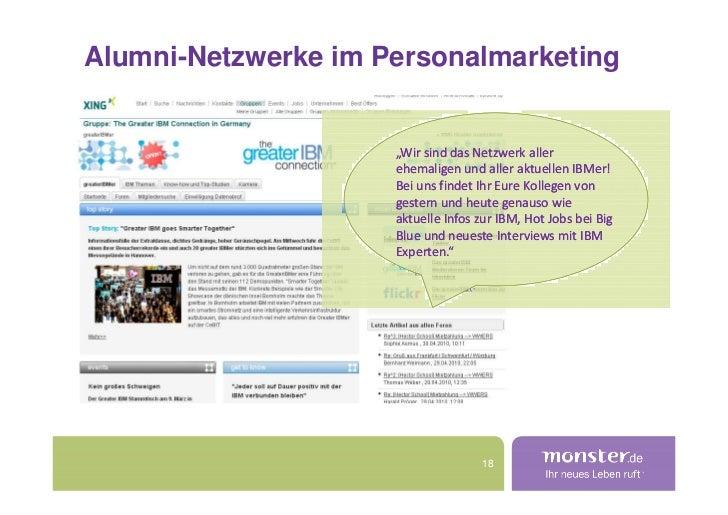 """Alumni-Netzwerke im Personalmarketing                        """"Wir sind das Netzwerk aller                      ehemaligen ..."""
