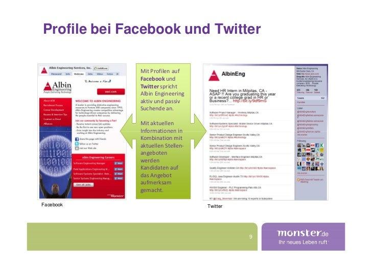 Profile bei Facebook und Twitter                Mit Profilen auf               Facebook und               Twitter spricht ...