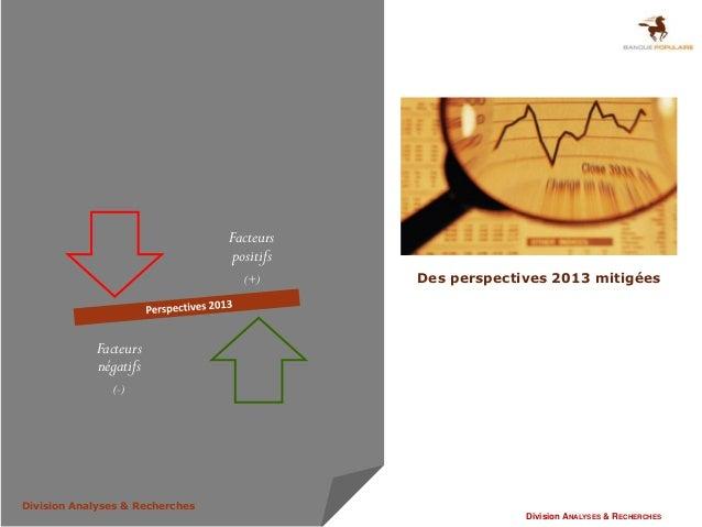 Facteurs                                 positifs                                   (+)      Des perspectives 2013 mitigée...