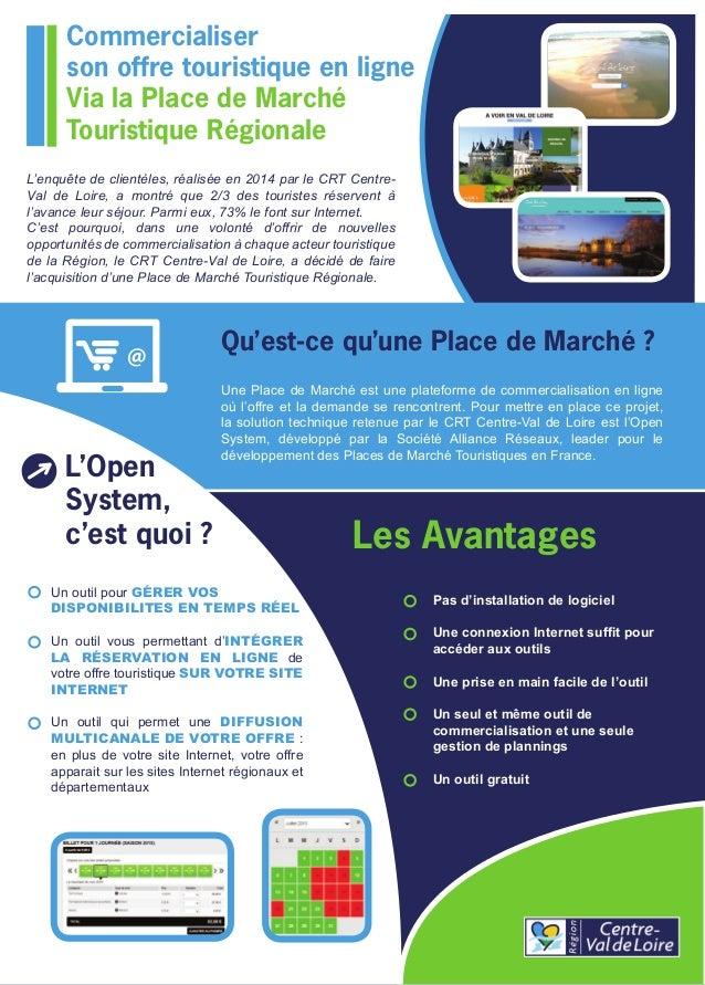 Commercialiser son offre touristique en ligne Via la Place de Marché Touristique Régionale @ Qu'est-ce qu'une Place de Mar...