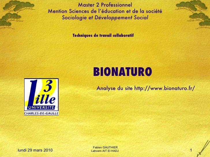Master 2 Professionnel Mention Sciences de l'éducation et de la société Sociologie et Développement Social Techniques de t...
