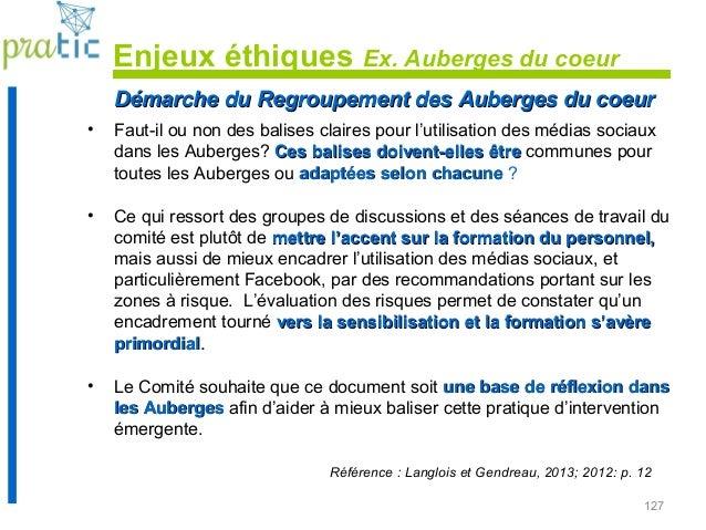 127 Démarche du Regroupement des Auberges du coeurDémarche du Regroupement des Auberges du coeur • Faut-il ou non des bali...