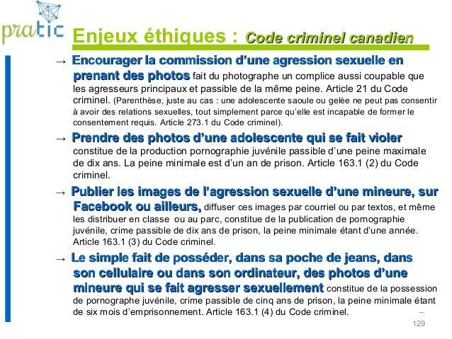 129 ... → Encourager la commission d'une agression sexuelle enEncourager la commission d'une agression sexuelle en prenant...