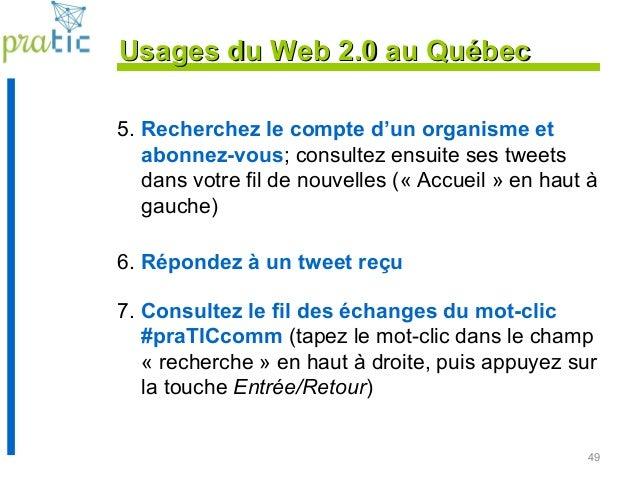5. Recherchez le compte d'un organisme et abonnez-vous; consultez ensuite ses tweets dans votre fil de nouvelles (« Accuei...