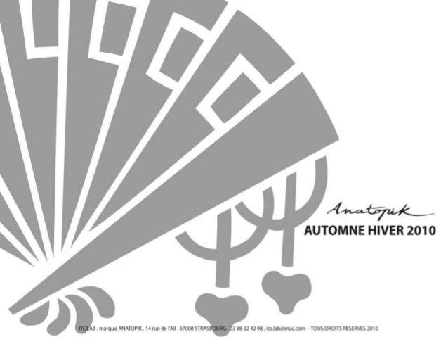 Présentation produits anatopik ah 2010