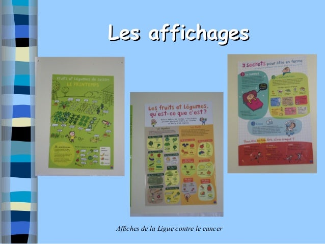 Les affichagesAffiches de la Ligue contre le cancer
