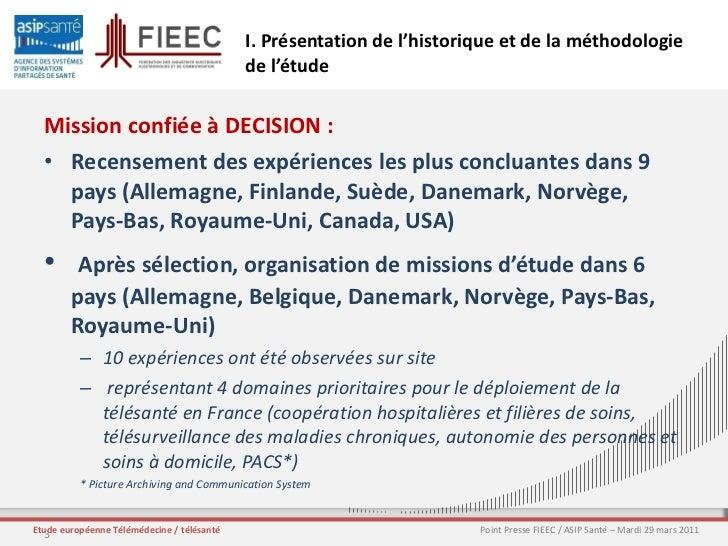 2011-03-29 ASIP Santé Conférence de Presse FIEEC/ASIP Santé étude Télémédecine Slide 3