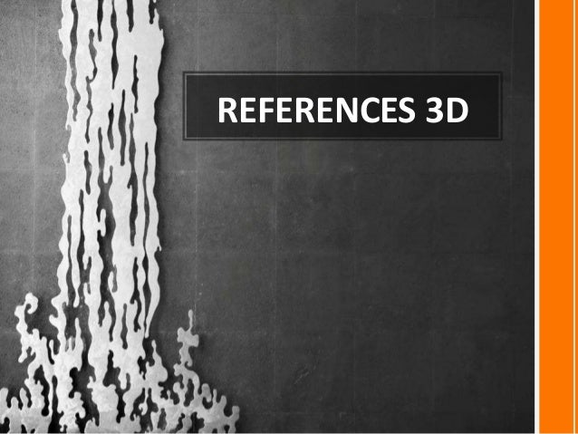 REFERENCES 3D