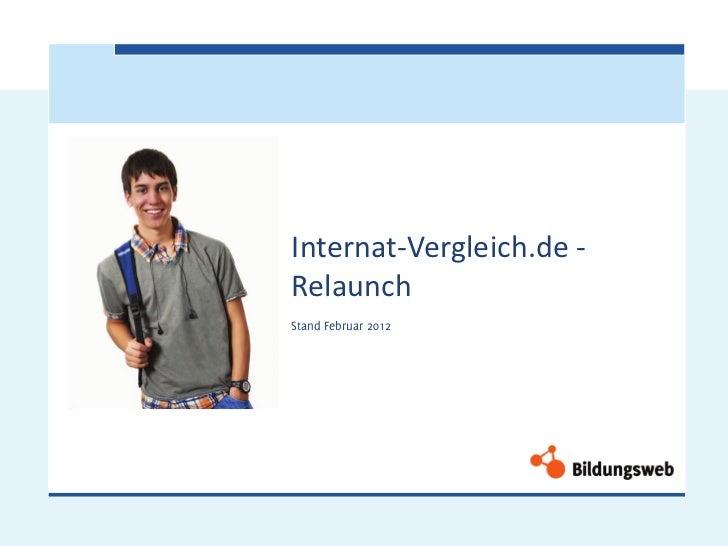 Internat-Vergleich.de -RelaunchStand Februar 2012