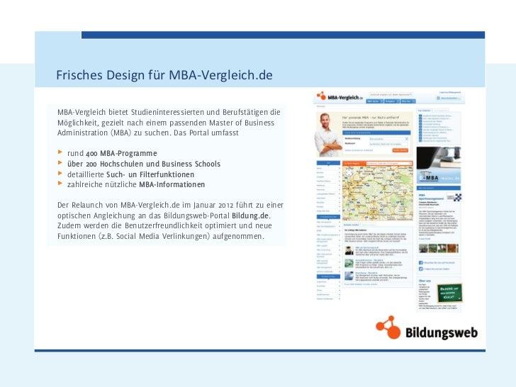 Frisches Design für MBA-Vergleich.deMBA-Vergleich bietet Studieninteressierten und Berufstätigen dieMöglichkeit, gezielt n...