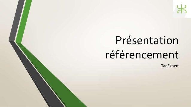 Présentation référencement TagExpert