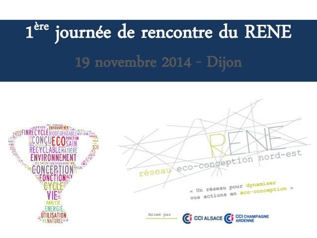 1èrejournée de rencontre du RENE  19 novembre 2014 -Dijon