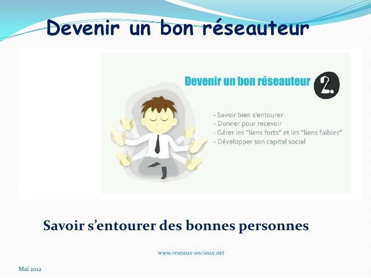 Devenir un bon réseauteur           Savoir s'entourer des bonnes personnes                           www.reseaux-sociaux.n...