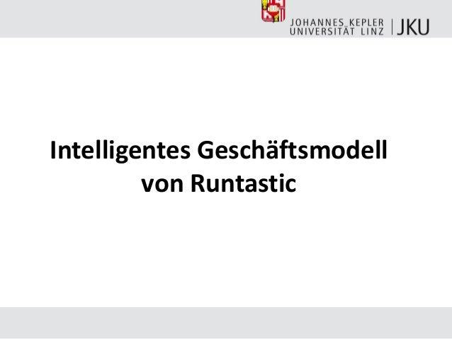 Intelligentes Geschäftsmodell von Runtastic