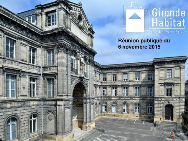 Réunion publique du 6 novembre 2015