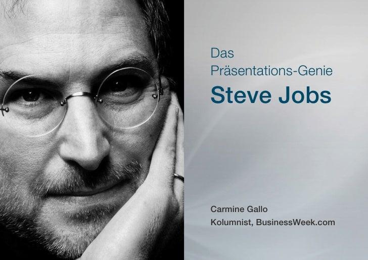 DasPräsentations-GenieSteve JobsCarmine GalloKolumnist, BusinessWeek.com