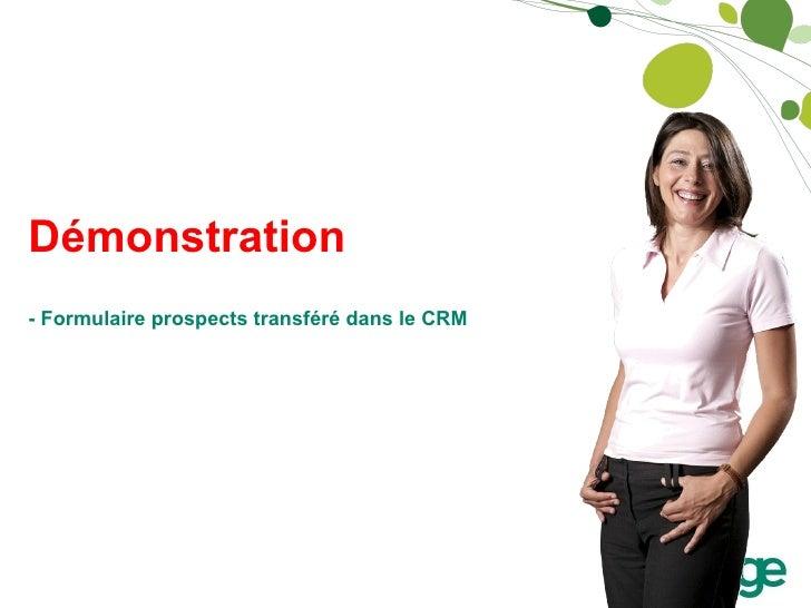 Démonstration - Formulaire prospects transféré dans le CRM