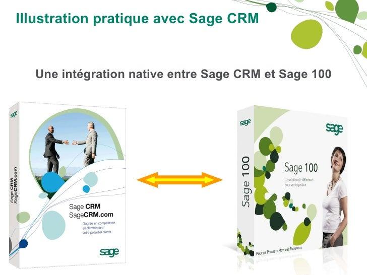 Illustration pratique avec Sage CRM   Une intégration native entre Sage CRM et Sage 100