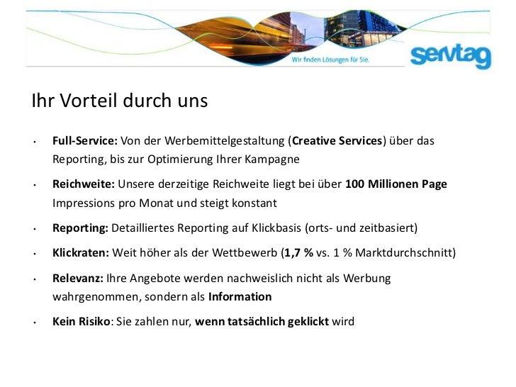 Ihr Vorteil durch uns•   Full-Service: Von der Werbemittelgestaltung (Creative Services) über das    Reporting, bis zur Op...