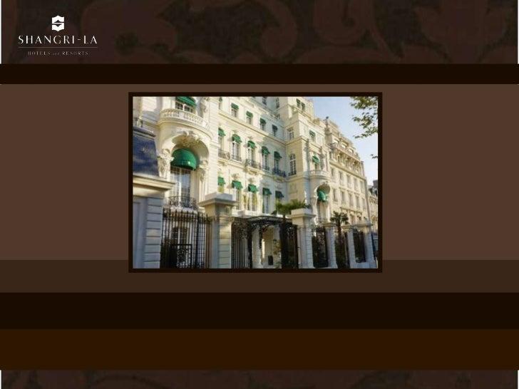 PrésentationConstruit en 1896 pour le Prince Roland Bonaparte, petit-neveu de lempereur Napoléon Ier, le Shangri-LaHôtel, ...