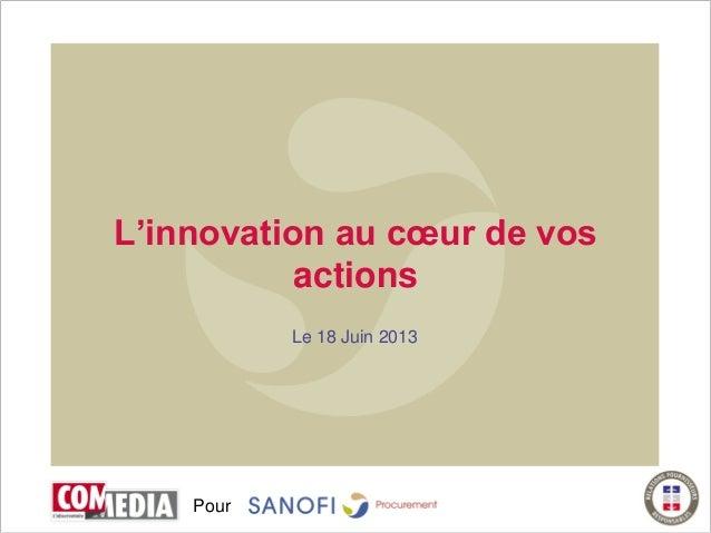 PourL'innovation au cœur de vosactionsLe 18 Juin 2013