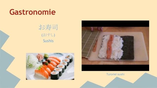 Gastronomie お寿司 (おすし) Sushis Turoriel sushi