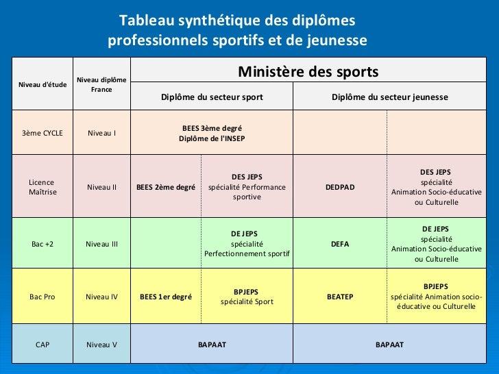 Les M 233 Tiers Et Dipl 244 Mes Professionnels Dans Le Champ Sport