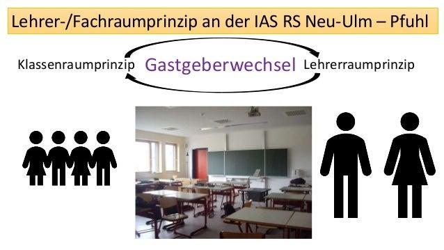 Lehrer-/Fachraumprinzip an der IAS RS Neu-Ulm – Pfuhl Klassenraumprinzip LehrerraumprinzipGastgeberwechsel