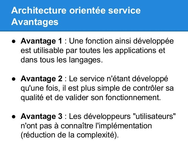 Scub foundation usine logicielle java libre for Architecture orientee service