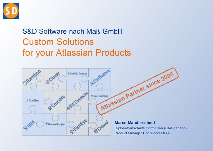 S&D Software nach Maß GmbH             Custom Solutions             for your Atlassian Products                           ...