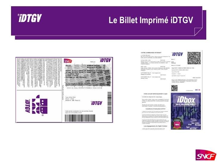 Le Billet Imprimé iDTGV