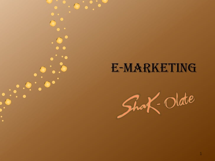 E-marketing              1