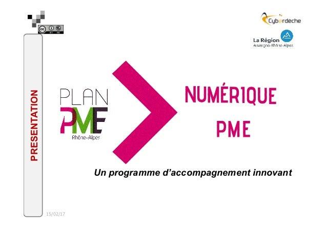 15/02/17 Un programme d'accompagnement innovant PRESENTATION