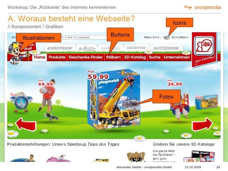 """Workshop: Die """"Rückseite"""" des Internets kennenlernen  A. Woraus besteht eine Webseite?                                    ..."""