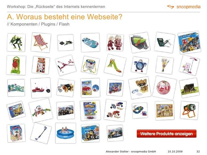 """Workshop: Die """"Rückseite"""" des Internets kennenlernen  A. Woraus besteht eine Webseite? // Komponenten / Plugins / Flash   ..."""