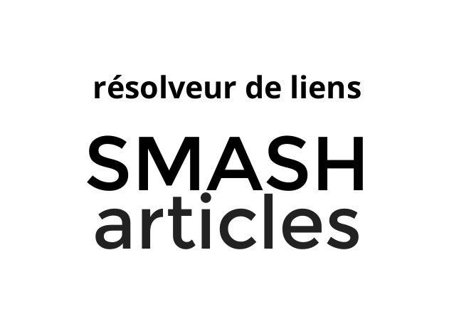 résolveur de liens SMASH articles