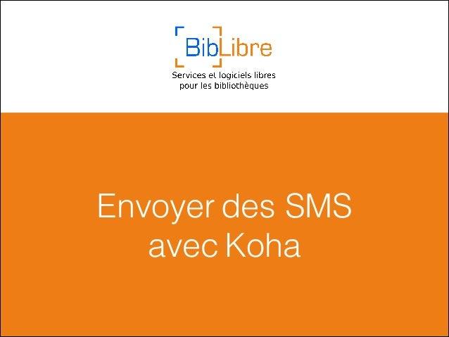 Envoyer des SMS avec Koha