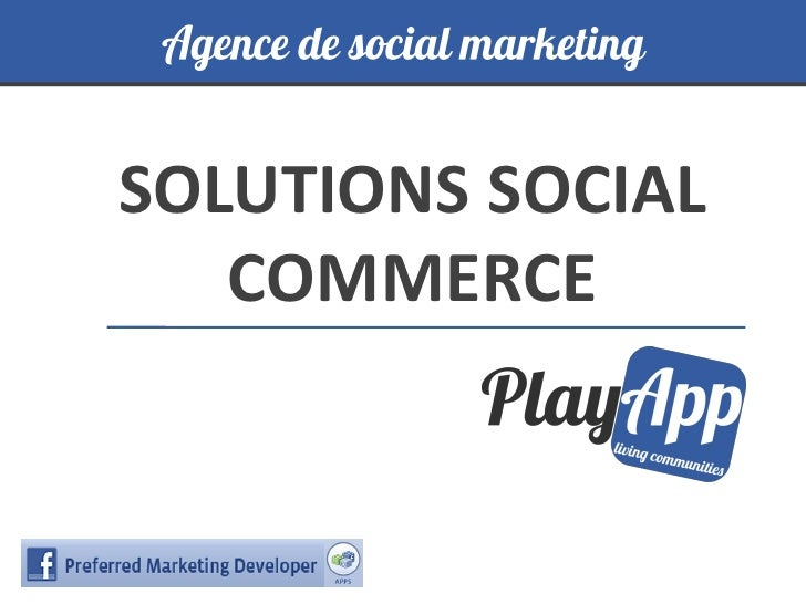 SOLUTIONS SOCIAL   COMMERCE
