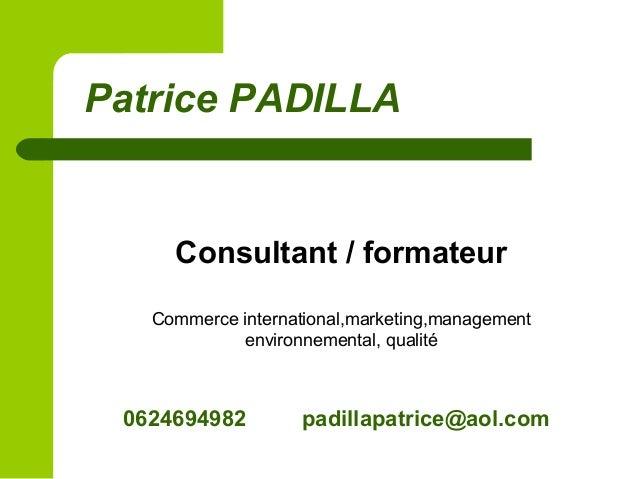 79 Patrice PADILLA Consultant