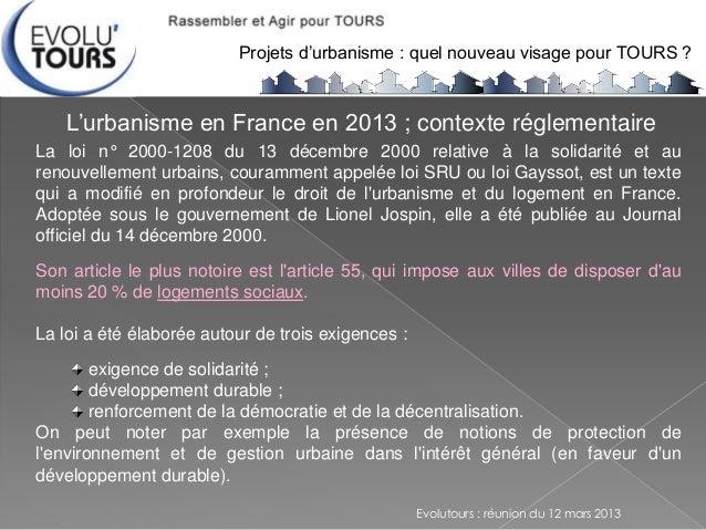 Projet D Urbanisme Pour Tours