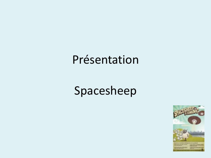 PrésentationSpacesheep