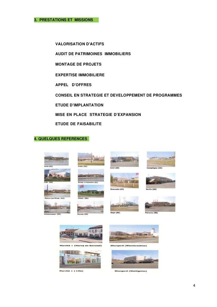 3. PRESTATIONS ET MISSIONS              VALORISATION D'ACTIFS           AUDIT DE PATRIMOINES IMMOBILIERS           MONTAGE...